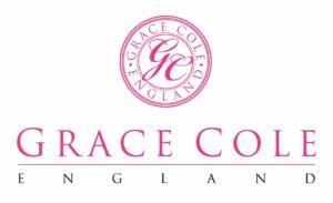 różowy logotyp marki Grace cole na białym tle