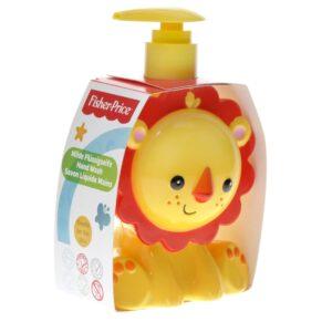 Opakowanie z mydłem w płynie w kształcie lwa w kolorze żółtym
