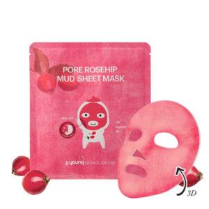 JJYoung by coalion - liftingująca maska błotna w płachcie. Różowe opakowanie widoczne na białym tle.