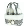 Srebrny zestaw prezentowy vivian gray w świątecznym opakowaniu z choinkami i pluszowym wykończeniem w stylu skandynawskim