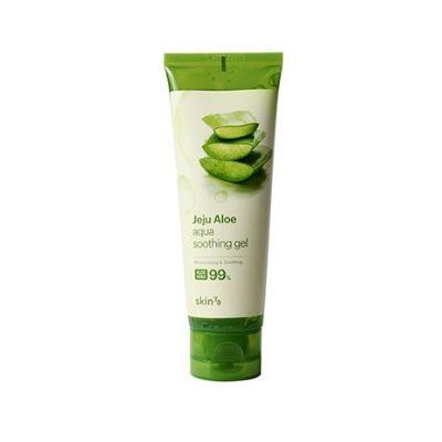 Żel aloesowy marki skin79, zielone opakowanie tuba widoczna na białym tle
