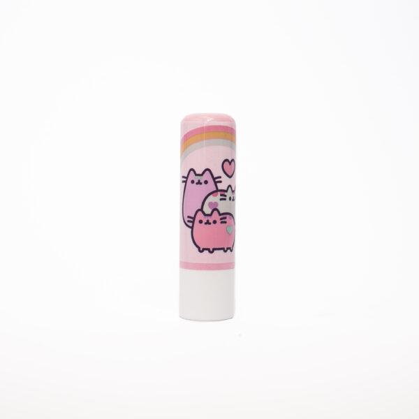 rózowa pomadka z wizerunkiem kota puszina