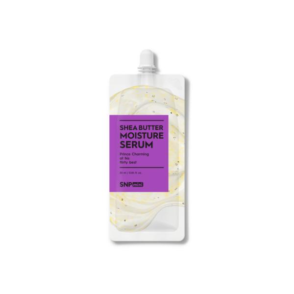 snp mini serum z masłem shea przedstawione na białym tle