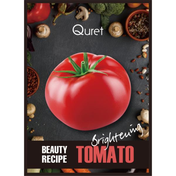 quret maska z ekstraktem z pomidora o działaniu rozjaśniającym przedstawiona na białym tle