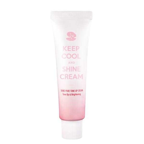 keep cool krem tonująco-rozjaśniający w różowo-białym opakowaniu przedstawiony na białym tle