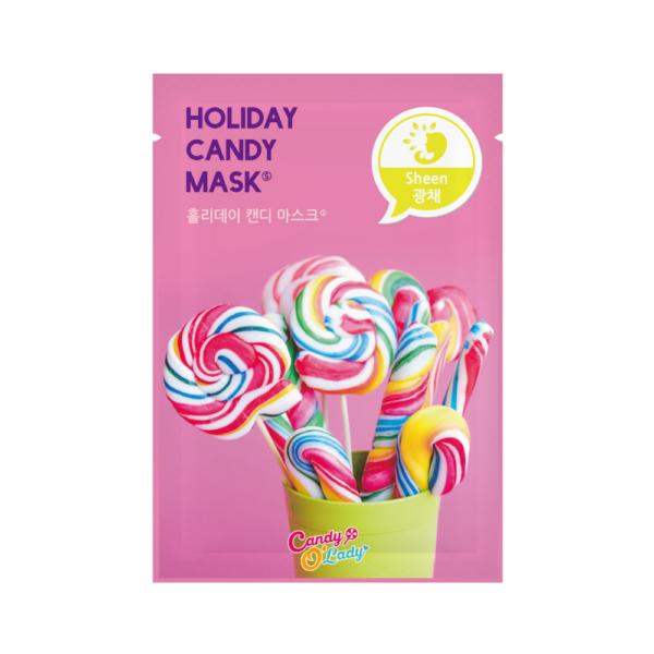 candy o'lady holiday candy mask s maska w płachcie o działaniu rozświetlającym przedstawiona na białym tle