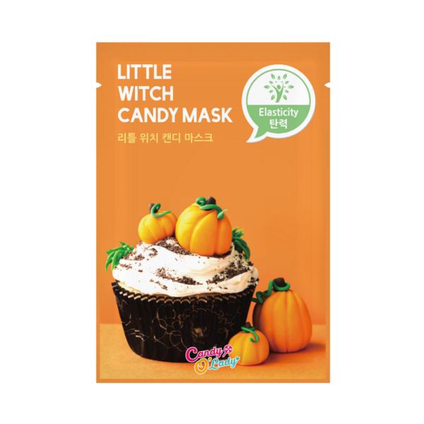 candy o'lady maska w płachcie o działaniu ujędrniającym w pomarańczowym opakowaniu przedstawiona na białym tle