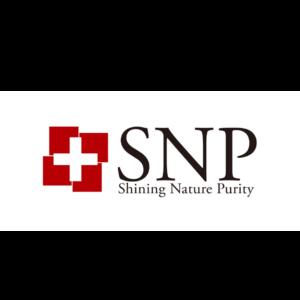 snp logo marki koreańskiej oferującej produkty do pielęgnacji skóry przedstawione na białym tle