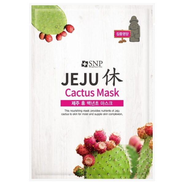 SNP Odżywcza maska w płachcie z ekstraktem z kaktusa przedstawiona na białym tle