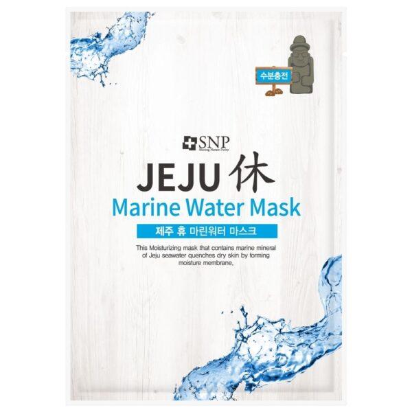 SNP Nawilżająca maska w płachcie z wodą morską przedstawiona na białym tle