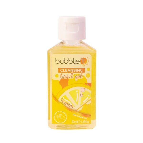 Bubble T - Żel antybakteryjny | Cytryna w żółtym opakowaniu przedstawiony na białym tle