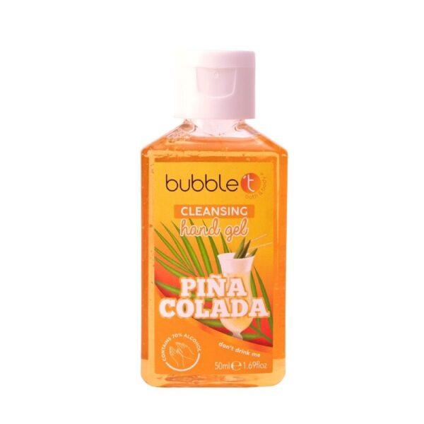 Bubble T - Żel antybakteryjny | Pina Colada w pomarańczowym opakowaniu przedstawiony na białym tle