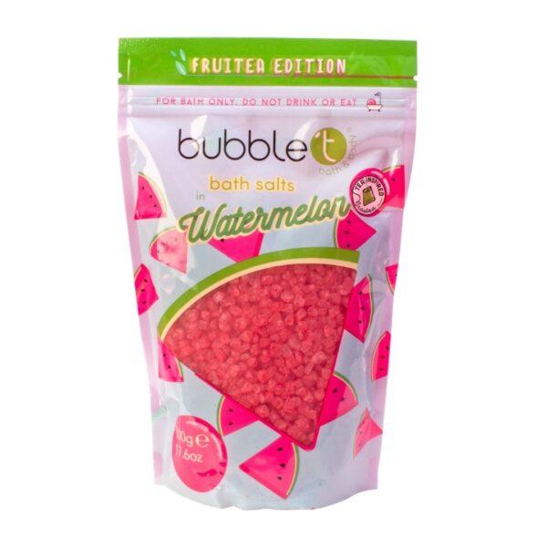 Bubble T Sól do kąpieli | Arbuz przedstawiony na białym tle