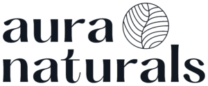 logo marki wegańskich kosmetyków do pielęgnacji aura naturals