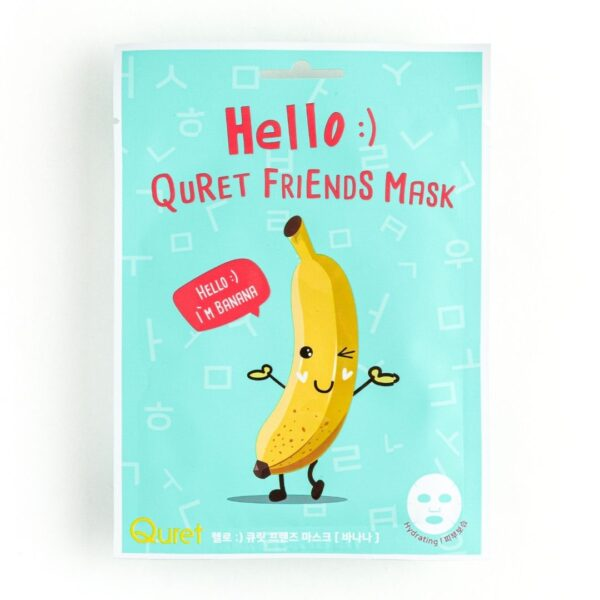 Quret Hello Friends Mask Banana - Maska w płachcie z ekstraktem z banana