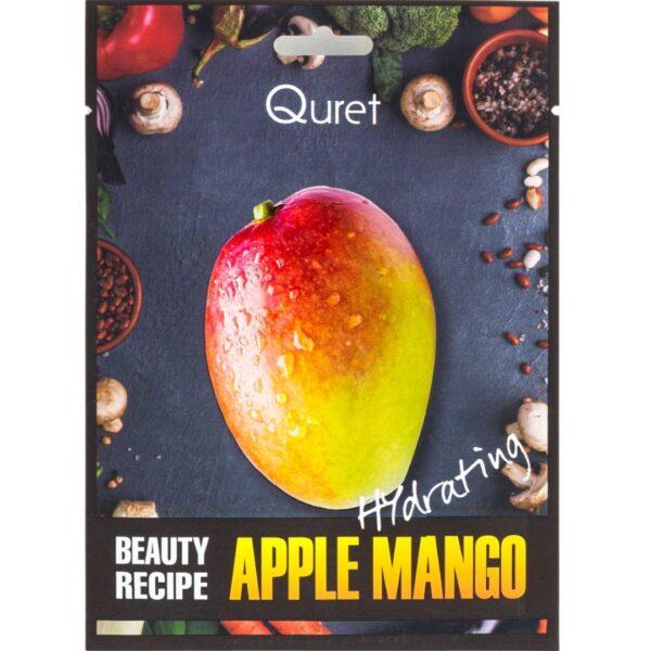 Quret - Nawilżająca maska z ekstraktem z mango przedstawiona na białym tle