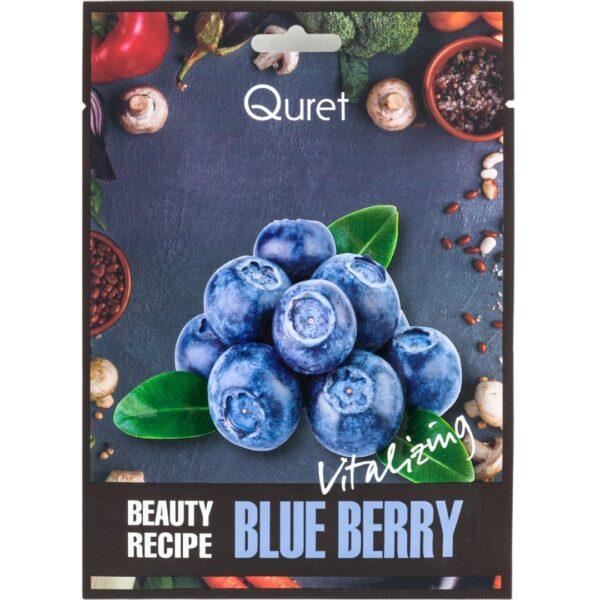 Quret - Rewitalizująca maska z ekstraktem z borówki przedstawiona na białym tle