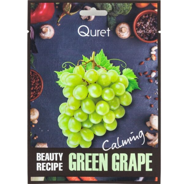 Quret - Łagodząca maska z ekstraktem z winogron przedstawiona na białym tle